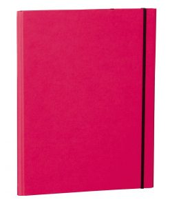 Clip Folder with metal clip,pen loop, elastic band (A4) & letter size,efalin cover, pink | 4250053683149 | 353118
