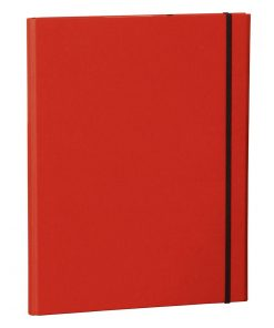 Clip Folder with metal clip,pen loop, elastic band (A4) & letter size,efalin cover, red | 4250053635322 | 353116