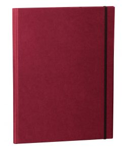 Clip Folder with metal clip,pen loop, elastic band(A4) & letter size,efalin cover,burgundy | 4250053635339 | 353117