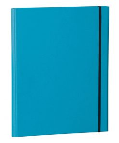 Clip Folder with metal clip,pen loop,elastic band(A4) & letter size,efalin cover,turquoise | 4250053696644 | 353128