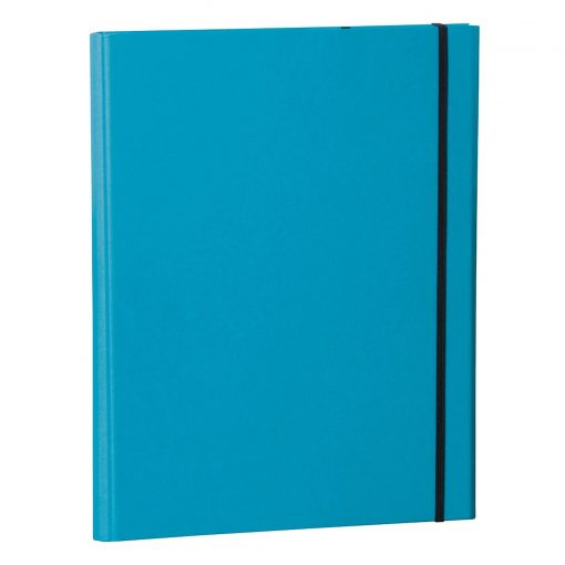 Clip Folder with metal clip,pen loop,elastic band(A4) & letter size,efalin cover,turquoise   4250053696644   353128