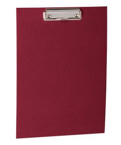 Clipboard with metal clip, efalin cover, burgundy | 4250053631034 | 352765