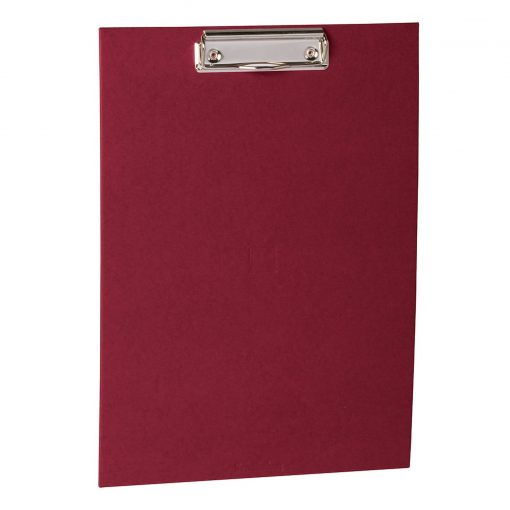 Clipboard with metal clip, efalin cover, burgundy   4250053631034   352765