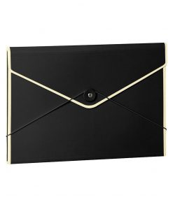 Envelope Folder with elastic band closure, black | 4250053631737 | 353194