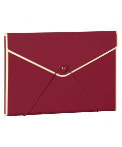 Envelope Folder with elastic band closure, burgundy | 4250053631713 | 353192