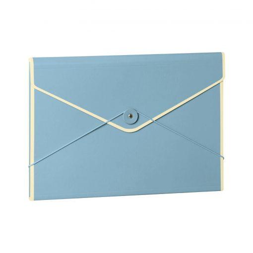 Envelope Folder with elastic band closure, ciel   4250053631751   353196