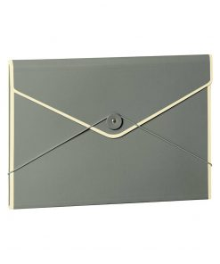Envelope Folder with elastic band closure, grey | 4250053631782 | 353199