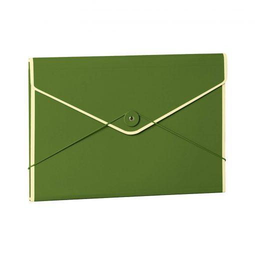 Envelope Folder with elastic band closure, irish   4250540923369   353195