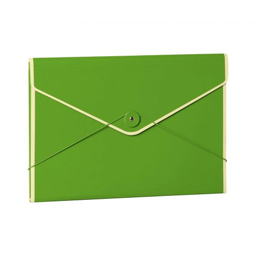 Envelope Folder with elastic band closure, lime | 4250053631775 | 353198