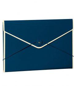 Envelope Folder with elastic band closure, marine | 4250053631690 | 353190