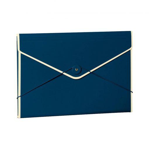 Envelope Folder with elastic band closure, marine   4250053631690   353190