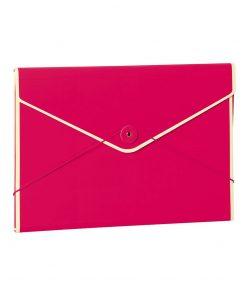 Envelope Folder with elastic band closure, pink | 4250053631720 | 353193