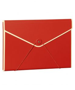 Envelope Folder with elastic band closure, red | 4250053631706 | 353191