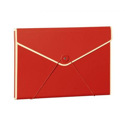Envelope Folder with elastic band closure, red   4250053631706   353191