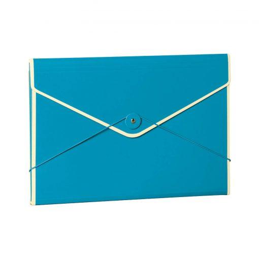 Envelope Folder with elastic band closure, turquoise | 4250053696781 | 353203
