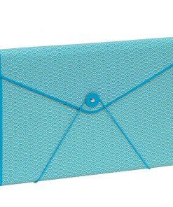 Envelope Folder with elastic band closure, turquoise | 4250540927213 | 354901