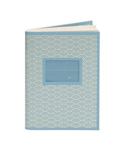 Exercise Book (A6) with a Tag to personalize, ruled, ciel | 4250540927145 | 354813