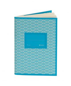 Exercise Book (A6) with a Tag to personalize, ruled, turqu | 4250540927152 | 354814