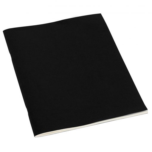 Filigrane Journal A4 with laid paper, 64 pages, plain, black   4250053607060   351434