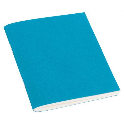 Filigrane Journal A7 with laid paper, 64 pages, plain, turquoise | 4250540928586 | 354806