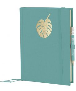 Grand Voyage Monstera gold embossing, plain, laid paper, 272 pages, acquaverde | 4004117546280 | 359069
