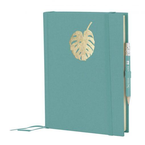 Grand Voyage Monstera gold embossing, plain, laid paper, 272 pages, acquaverde | 4004117546280 | 359069