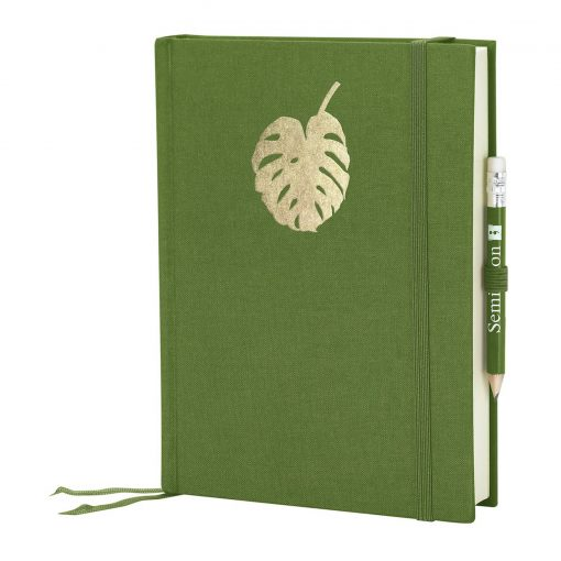 Grand Voyage Monstera gold embossing, plain, laid paper, 272 pages, irish | 4004117546242 | 359067