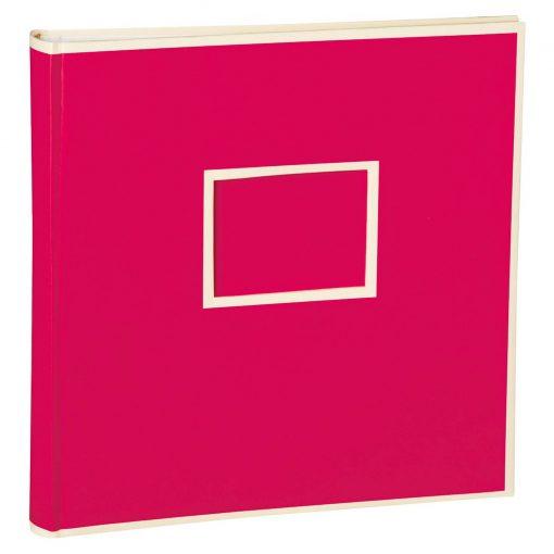 Jumbo Photo Album, size 30x30cm, photo mounting board, glassine paper, pink   4250053691489   351098