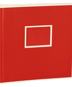 Jumbo Photo Album, size 30x30cm, photo mounting board, glassine paper, red | 4250053691731 | 351096