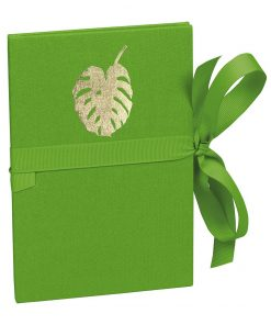 Leporello Classico Monstera gold embossing, 14 photos up to 10 x 15 cm, lime   4004117546365   359077