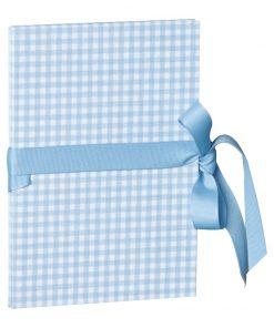 Leporello small, 14 photos - size 10 x 15cm, vichy blue | 4250053685419 | 353230
