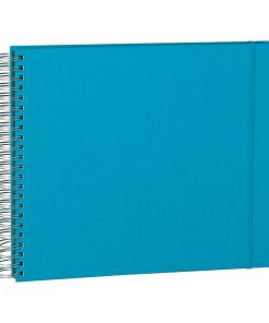 Maxi Mucho Album Black, 90 black pages, booklinen cover, turquoise | 4250053697016 | 352975