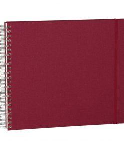 Maxi Mucho Album Cream, 90 cream white pages, book linen cover, burgundy | 4250540900674 | 352996