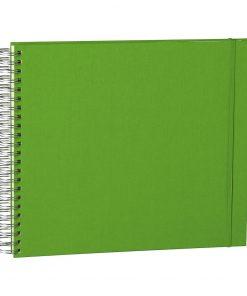 Maxi Mucho Album Cream, 90 cream white pages, book linen cover, lime | 4250540900728 | 353002