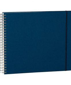 Maxi Mucho Album Cream, 90 cream white pages, book linen cover, marine | 4250540900650 | 352994