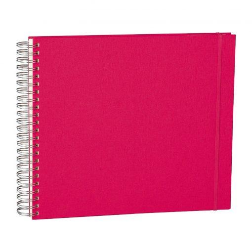 Maxi Mucho Album Cream, 90 cream white pages, book linen cover, pink   4250540900681   352997