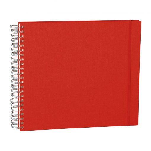 Maxi Mucho Album Cream, 90 cream white pages, book linen cover, red | 4250540900667 | 352995