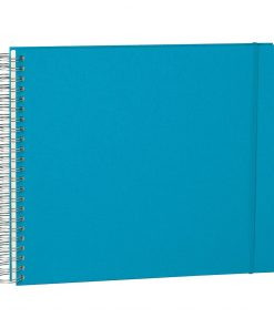 Maxi Mucho Album Cream, 90 cream white pages, book linen cover, turquoise | 4250540900780 | 353008