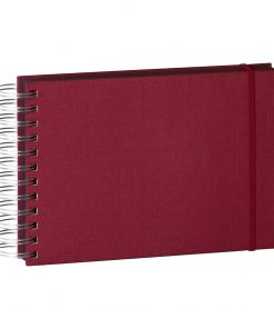 Mini Mucho Album Black, 90 black pages, booklinen cover, burgundy | 4250053672440 | 352980