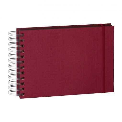 Mini Mucho Album Black, 90 black pages, booklinen cover, burgundy | 4250053672440 | 352980