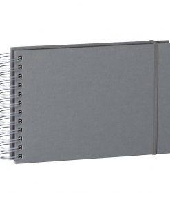 Mini Mucho Album Black, 90 black pages, booklinen cover, grey | 4250053672532 | 352988