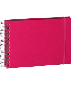 Mini Mucho Album Black, 90 black pages, booklinen cover, pink | 4250053672457 | 352981