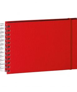 Mini Mucho Album Black, 90 black pages, booklinen cover, red | 4250053672433 | 352979