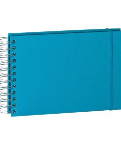 Mini Mucho Album Black, 90 black pages, booklinen cover, turquoise | 4250053697023 | 352992
