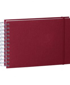 Mini Mucho Album Cream, 90 cream white pages, book linen cover, burgundy | 4250540900841 | 353014