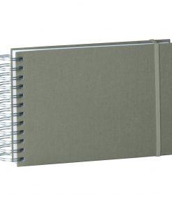 Mini Mucho Album Cream, 90 cream white pages, book linen cover, grey | 4250540900919 | 353022