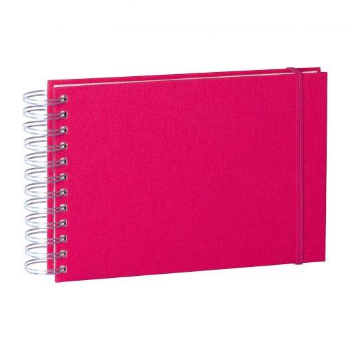 Mini Mucho Album Cream, 90 cream white pages, book linen cover, pink | 4250540900858 | 353015