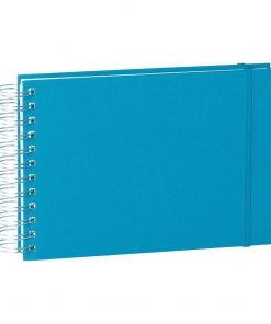 Mini Mucho Album Cream, 90 cream white pages, book linen cover, turquoise | 4250540900957 | 353026