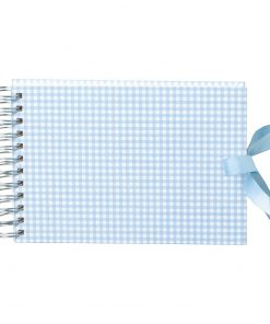 Mini Mucho Album Cream, 90 cream white pages, book linen cover, Vichy blue | 4250540900971 | 353028
