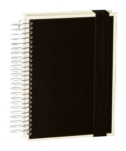 Mucho (A5) spiral-bound notebook, 330 pages, 3 different rulings, black | 4250053636947 | 351557